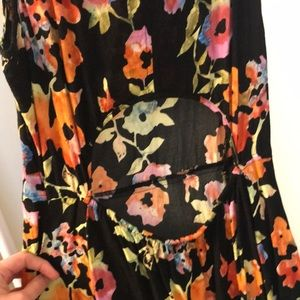 Frenchi Dresses - Floral skater dress with cutouts